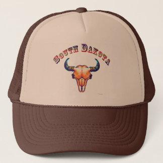 South Dakota Buffalo Skull Design Trucker Hat