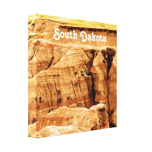 South Dakota Gallery Wrapped Canvas