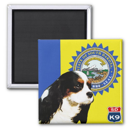 South Dakota Cavalier King Charles Spaniel Magnet