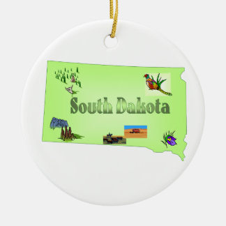 South Dakota Christmas Tree Ornament