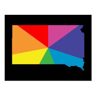 south dakota color burst postcard