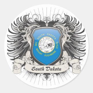 South Dakota Crest Round Sticker