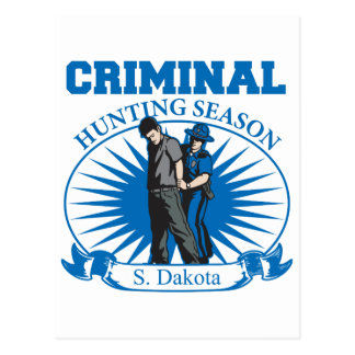 South Dakota Criminal Hunting Season Post Card