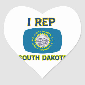 south Dakota Designs Heart Sticker