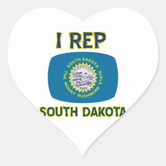 south Dakota Designs Heart Sticker