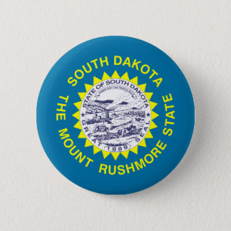 South Dakota Flag 6 Cm Round Badge