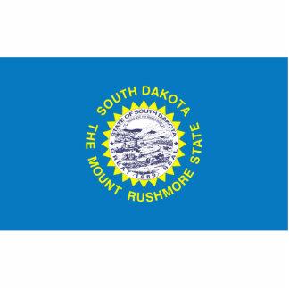 South Dakota Flag Keychain Cut Out