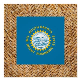South Dakota Flag on Textile themed