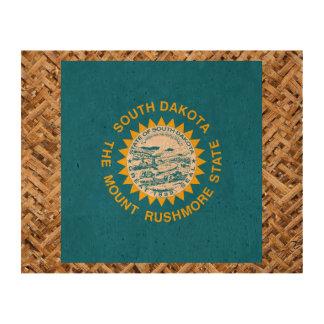 South Dakota Flag on Textile themed Queork Photo Prints