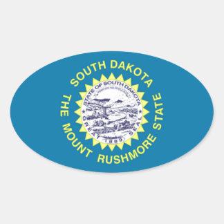 South Dakota Flag Oval Sticker