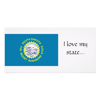South Dakota Flag Photo Card Template