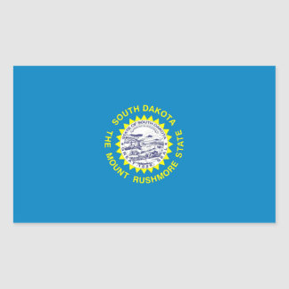 South Dakota Flag Rectangular Sticker
