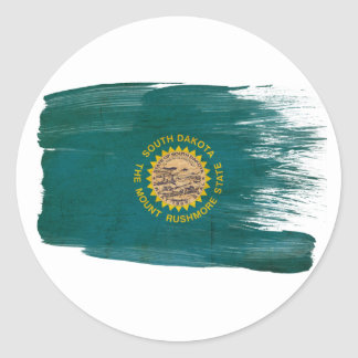 South Dakota Flag Round Sticker
