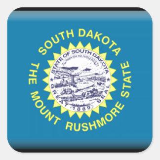 South Dakota Flag Square Sticker