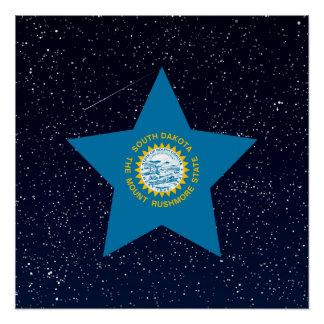 South Dakota Flag Star In Space