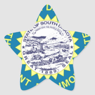 South Dakota Flag Star Sticker