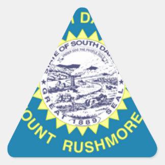 South Dakota Flag Triangle Stickers