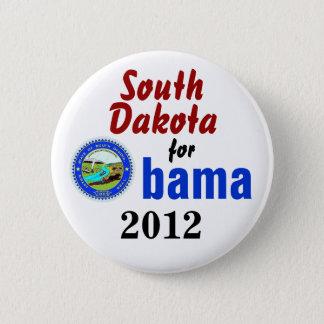 South Dakota for Obama 2012 6 Cm Round Badge