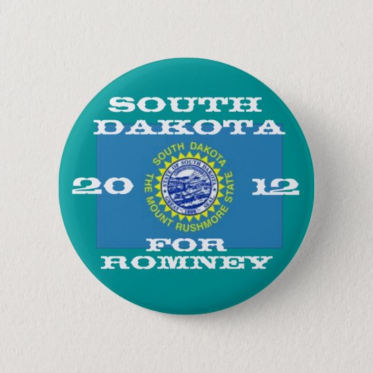 South Dakota for Romney 2012 6 Cm Round Badge