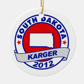South Dakota Fred Karger Christmas Ornaments