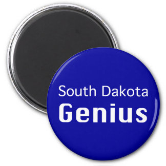 South Dakota Genius Gifts 6 Cm Round Magnet