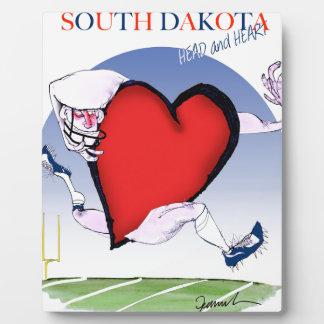 south dakota head heart, tony fernandes display plaques