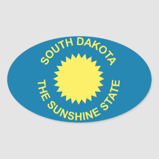South Dakota Historical Flag Oval Sticker