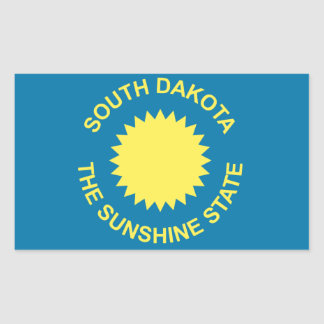South Dakota Historical Flag Rectangular Sticker