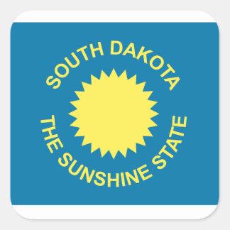South Dakota Historical Flag Square Sticker