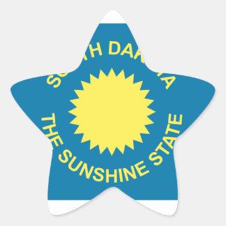 South Dakota Historical Flag Star Sticker