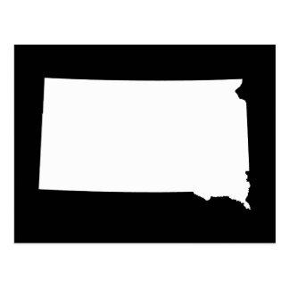 South Dakota in White and Black Postcard