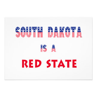 South Dakota is a Red State Custom Announcements