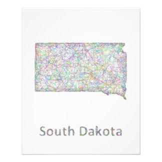 South Dakota map 11.5 Cm X 14 Cm Flyer