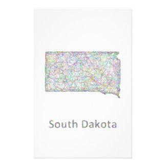 South Dakota map 14 Cm X 21.5 Cm Flyer
