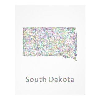 South Dakota map 21.5 Cm X 28 Cm Flyer