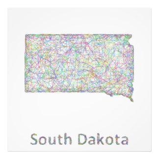 South Dakota map Photo