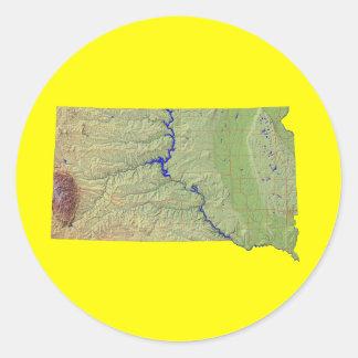 South Dakota Map Sticker