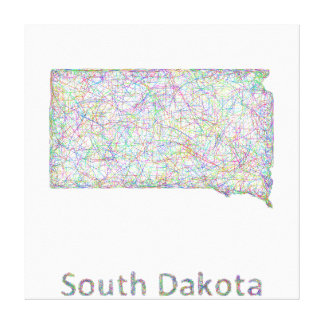 South Dakota map Stretched Canvas Print