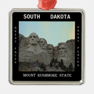 South Dakota Mount Rushmore State Christmas Ornament