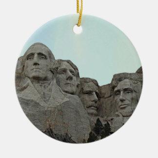 South Dakota Mount Rushmore State Round Ceramic Decoration