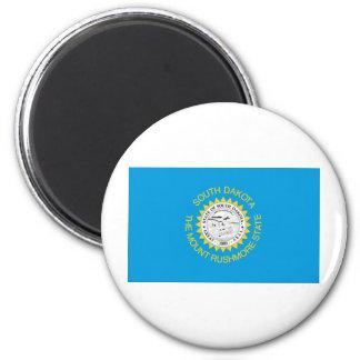 South Dakota  Official State Flag 6 Cm Round Magnet