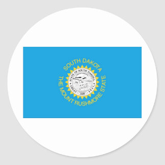 South Dakota  Official State Flag Round Sticker