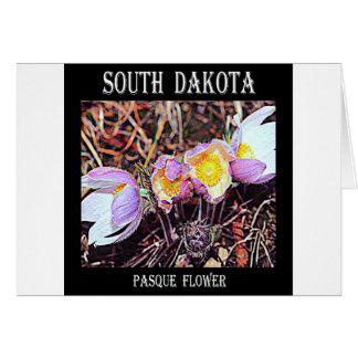 South Dakota Pasque Flower Greeting Card