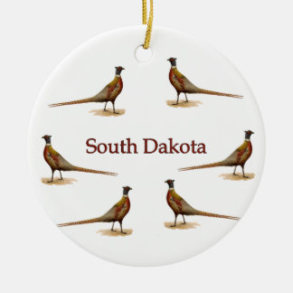 South Dakota Pheasants Christmas Ornament
