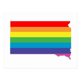 south dakota rainbow postcard