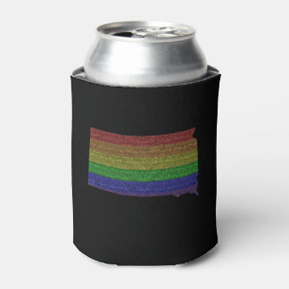 South Dakota Rainbow Pride Flag Mosaic