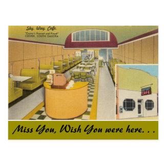 South Dakota, Sky Way Cafe, Custer Postcard