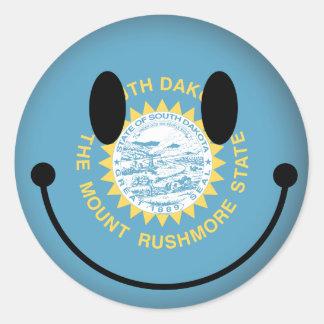 South Dakota Smiley Sticker