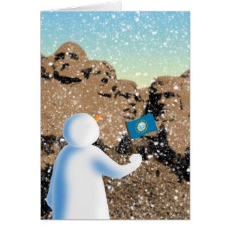 South Dakota Snowman Greeting Card