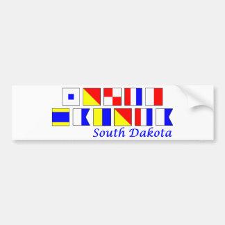 South Dakota spelled in nautical flag alphabet Bumper Sticker